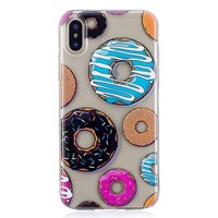 Coque en TPU Donut Coque iPhone X XS - Coloré Transparent