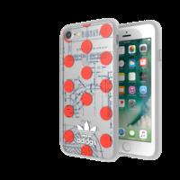 Coque iPhone 6 6s 7 8 SE 2020 Transparente Adidas 70's - Transparente Rouge Blanche