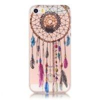 Coque iPhone 5 5s SE Dreamcatcher Transparent en TPU - Marron Violet