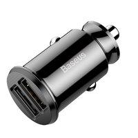 Baseus Universal Dual USB Car Charger 3.1 Ampère - Noir