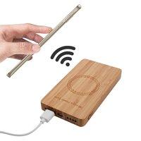 Chargeur sans fil universel N9 Bamboo Powerbank 6000 mAh Qi - Bois