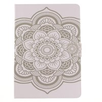 Etui portefeuille en cuir Mandala pour iPad Pro de 10,5 pouces - Blanc standard