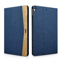 Coque et housse XOOMZ pour iPad Air 3 (2019) et iPad Pro 10,5 pouces (2017) Tissu Cuir Bleu Marron