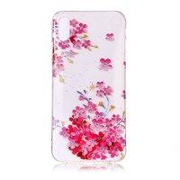 Coque Floral Transparente Colorée TPU iPhone XR - Rose