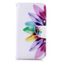 Étui Portefeuille Étui Fleur iPhone XR - Blanc Rose
