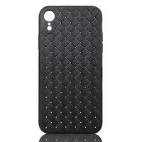 Coque iPhone XR en TPU Texturé - Noire