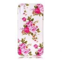 Coque iPhone XR Glow In The Dark en TPU rose - Blanc Rose