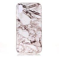 Coque TPU gris marbre pour iPhone XR - Gris