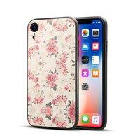 Étui rétro pour iPhone XR Roses