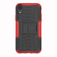 Étui antichoc pour pneu de voiture TPU iPhone XR avec standard - Rouge
