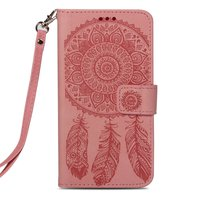 Étui portefeuille iPhone XS Max Dreamcatcher en cuir - Rose