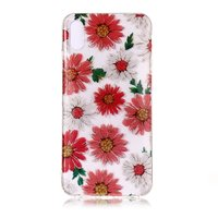 Coque TPU Floral Glitter iPhone XS Max - Rouge Blanc