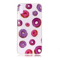 Coque Flexible TPU Donuts pour iPhone XS Max - Rose Violet