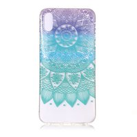 Coque iPhone XS Max Mandala TPU - colorée transparente