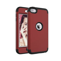 Coque iPod Touch 5 6 7 Armor Antichoc en Polycarbonate de Silicone - Rouge