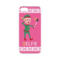 Étui de Noël FLAVR laid pull de Noël chandail de Noël elfes selfie iPhone 5 5s SE 2016 - rose