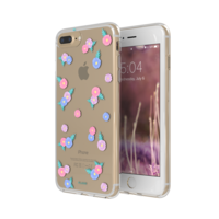 FLAVR Fleurs iPlate transparentes roses bleues iPhone 6 Plus 6s Plus 7 Plus 8 Plus - Transparent