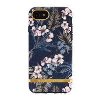 Coque rigide Richmond & Finch en plastique fleurs jungle iPhone 6 6s 7 8 SE 2020 - Bleu