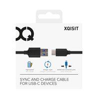 Xqisit Charge & Sync USB C 3.1 vers USB A 1m - Noir