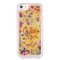 Coque transparente pailletée dorée Coque transparente souple iPhone 5 5s SE - Transparente