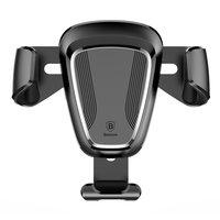 Baseus Universal support voiture ventilateur d'aération voiture smartphone GPS - Noir