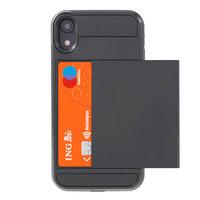 Étui à cartes secret pour portefeuille rigide iPhone XR - Noir