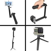 Support de caméra trépied Selfie Stick pliable Grip 3 en 1 Monopod Steadycam - GoPro DLSR