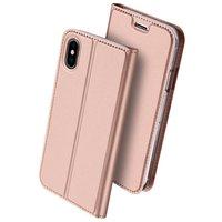 Étui Dux Ducis Cover avec étui en cuir pour iPhone X XS - Rose Gold