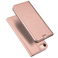 Étui Dux Ducis Cover Booklet avec étui en cuir à rabat pour iPhone 7 8 - Rose Gold