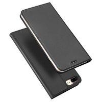 Dux Ducis Étui livret avec étui à rabat en cuir iPhone 7 Plus 8 Plus - Noir