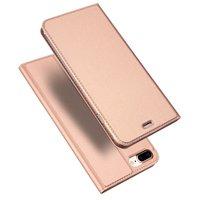 Dux Ducis Etui livret avec étui à rabat en cuir iPhone 7 Plus 8 Plus - Or Rose