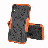 Coque anti-choc hybride standard pour iPhone X XS - Orange