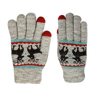 Gants Touch Tip Gloves Deer confortablement tricotés - Gris