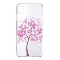 Coque iPhone XR TPU Arbre Floral Rose - Coque Transparente