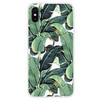 Bananen Bladeren hoesje iPhone XS Max TPU Case - Groen cover