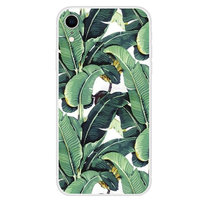 Coque iPhone XR Banana Leaves - Housse verte