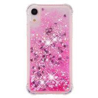 Étui de protection en poudre scintillante TPU iPhone XR - Étui rose