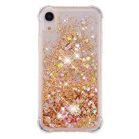 Coque iPhone XR TPU de protection en poudre scintillante en mouvement - Boîtier en or