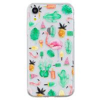 Coque en TPU Cactus et Flamingo pour iPhone XR
