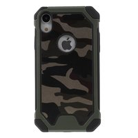 Coque TPU Protection en cuir synthétique camouflage Army pour iPhone XR - Army Green