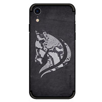 Coque TPU NXE Snake Scales Horse pour iPhone XR - Coque Noire