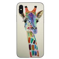 TPU hoesje iPhone X XS case - Giraffe