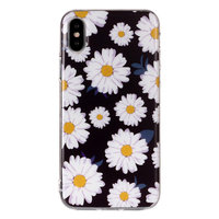 Coque TPU Beautiful Flowers iPhone X XS - Daisies noir