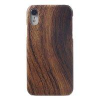 Étui rigide iPhone XR aspect bois - Texture bois brun