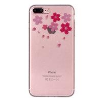 Coque Flower TPU pour iPhone 7 Plus 8 Plus - Transparente