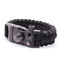 Bracelet Survivant 9 fonctions - Black Camping Rescue