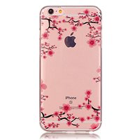Coque en TPU Transparent Blossom pour iPhone 6 6s - Rose