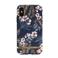 Coque iPhone X Richmond & Finch Floral Jungle Gold - Bleu
