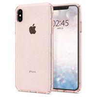 Spigen Liquid Crystal Glitter pour iPhone XS Max - Rose transparent