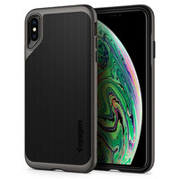 Spigen Neo Case iPhone hybride XS Max Housse gris